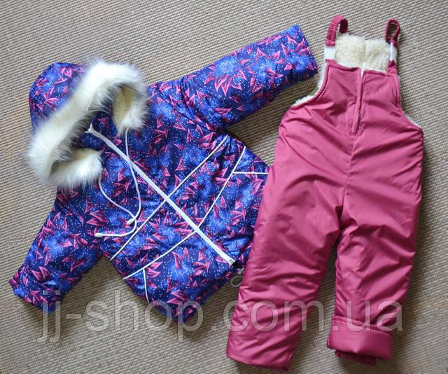 Детский зимний комбинезон для девочек