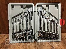 ✔️ Рожково - накидные ключи с трещоткой на кардане - 12 шт LEX 1578, фото 2