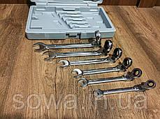 ✔️ Рожково - накидные ключи с трещоткой на кардане - 12 шт LEX 1578, фото 3