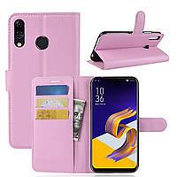 Чехол-книжка Litchie Wallet для Asus Zenfone 5 / 5Z(ZE620KL / ZS620KL) Светло-розовый
