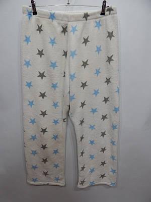 Женские меховые домашние теплые брюки флис LOVE  001GDB р.50-52