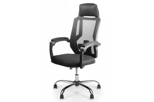 Кресло Barsky Color Black Permanent contact Arm_pad Chrome, фото 2