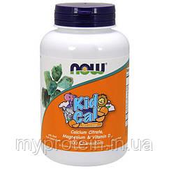 NOW Вітаміни і Мінерали Kid Cal 100 chewables