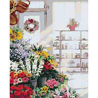 """Картина по номерам """"В цветочном магазине"""" 40*50"""