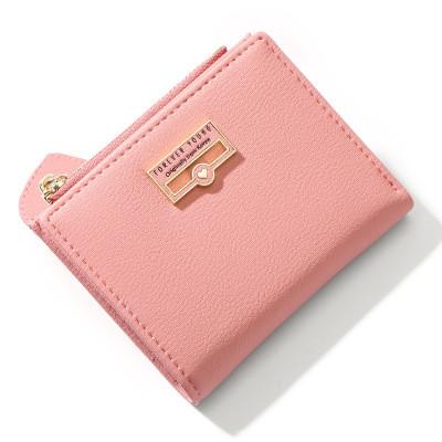 Женский Кошелек Бумажник Маленький на Кнопке для Карточек Weichen (7599-58) Розовый