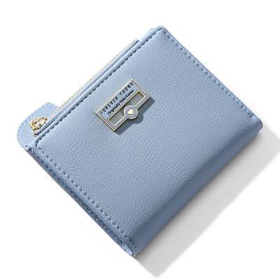 Женский Кошелек Бумажник Маленький на Кнопке для Карточек Weichen (7599-58) Голубой