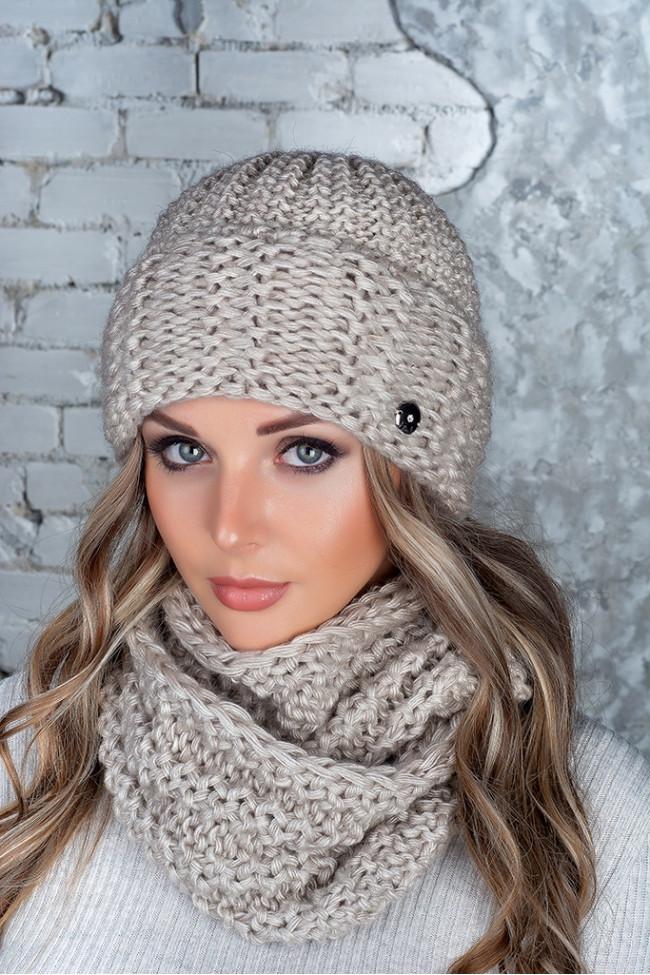 Комплект (шапка и снуд-хомут) Flirt Стилари One Size лен