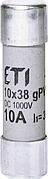 Предохранители цилиндрическиесерии CH V DC (характеристика gPV) для фотоэлектрических систем