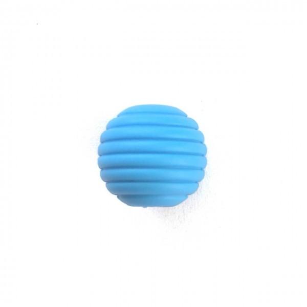 Волнистая 15мм (голубой) круглая, силиконовая бусина