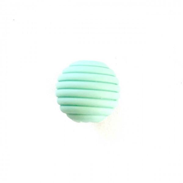 Волнистая 15мм (мята) круглая, силиконовая бусина