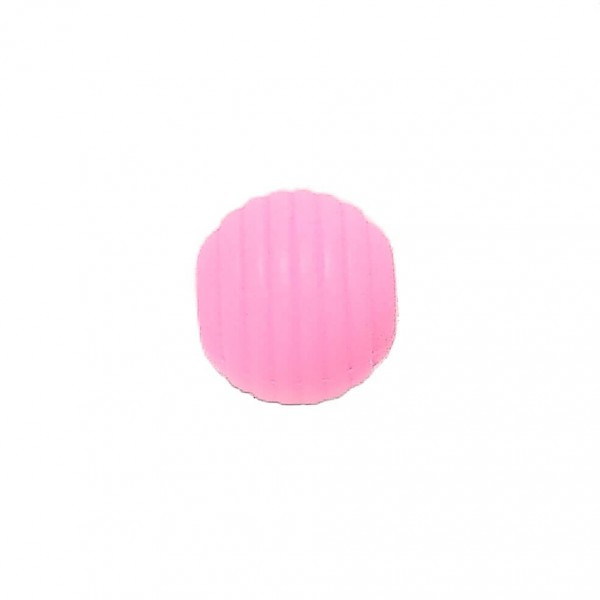 Волнистая 15мм (розовая) круглая, силиконовая бусина