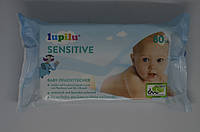 Детские влажные салфетки Lupilu Sensitive 80 шт, фото 1
