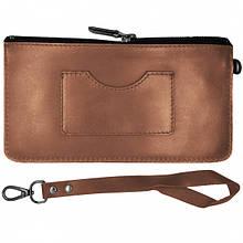 Чехол-сумочка на молнии 5-6 дюймов Grand Premium (Кожа) Broun