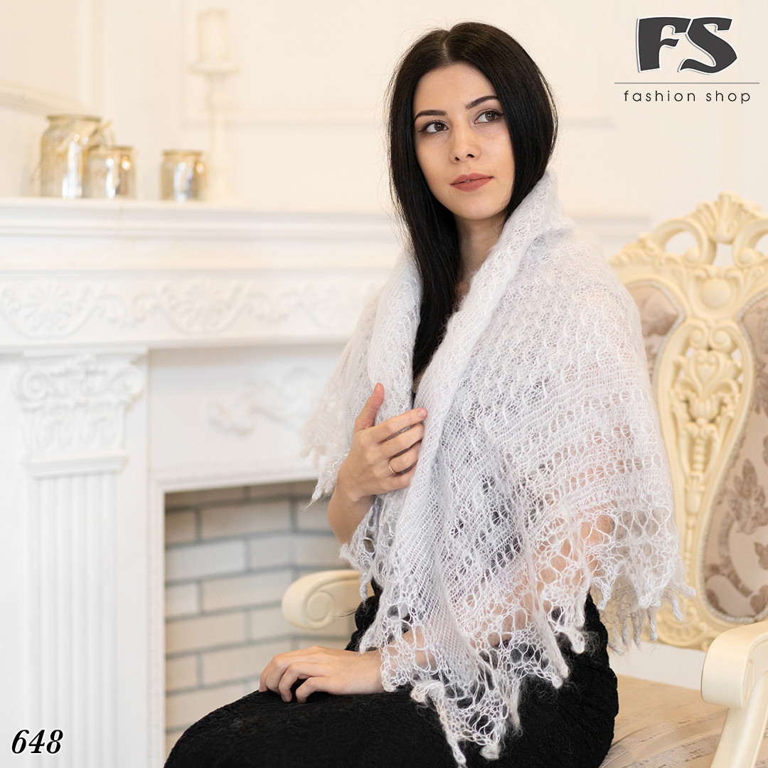 Пуховий платок-паутинка Лаурета 110 см