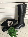 Комфортные зимние сапоги женские кожаные черные, фото 6