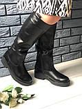 Комфортные зимние сапоги женские кожаные черные, фото 4