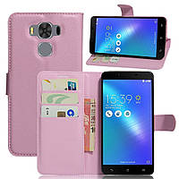 Чехол-книжка Litchie Wallet для Asus Zenfone 3 Max ZC553KL Светло-розовый
