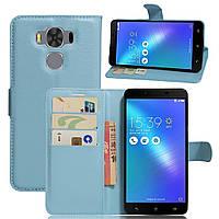 Чехол-книжка Litchie Wallet для Asus Zenfone 3 Max ZC553KL Голубой