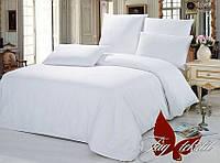 Комплект постельного белья ранфорс Тм Таg  Белый двуспальный