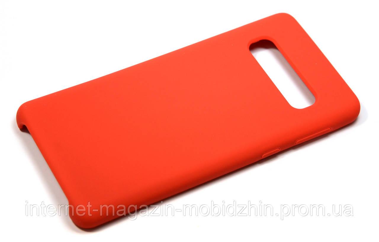 Чехол силиконовый Samsung G973 Galaxy S10 Red, 100% Original Soft Matte Case