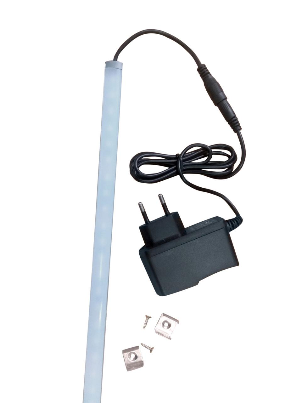 Подсветка интерьера LED, ldf 1000 мм 12в, холодный свет (в комплекте с БП)