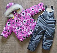 Детский зимний комбинезон на девочек от 1 до 5 лет, фото 1