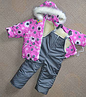 Детский зимний комбинезон на девочек от 1 до 5 лет