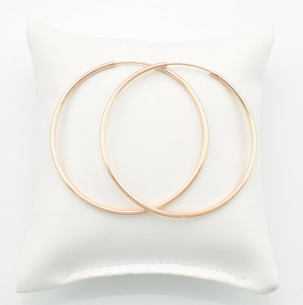 Серьги-кольца большие позолота