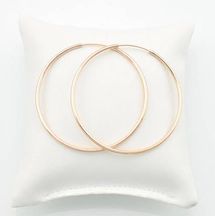 Серьги-кольца большие позолота, фото 2