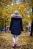 Крутая женская парка, зимняя с мехом песца, фото 3