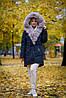 Крутая женская парка, зимняя с мехом песца, фото 4