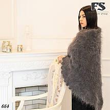 Оренбургский серый пуховой платок Джамалия 100, фото 2