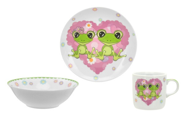 Дитячий набір посуду LIMITED EDITION HAPPY FROGS 3 предмета C556