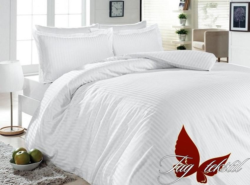 Комплект постельного белья Белый в полоску