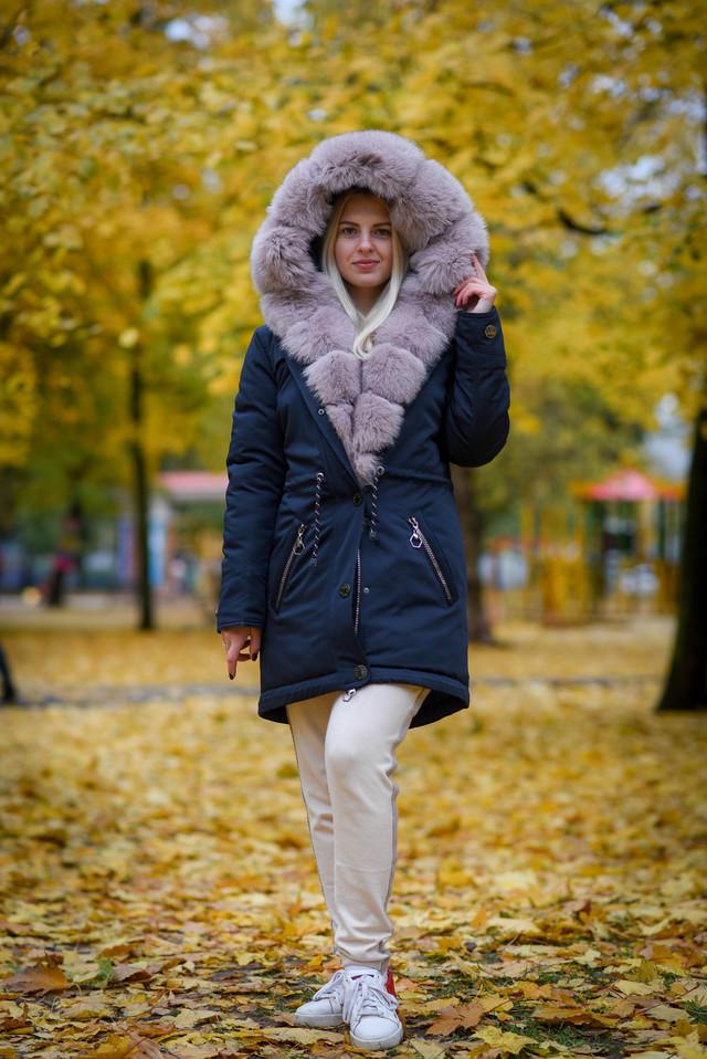 Женская зимняя парка с мехом