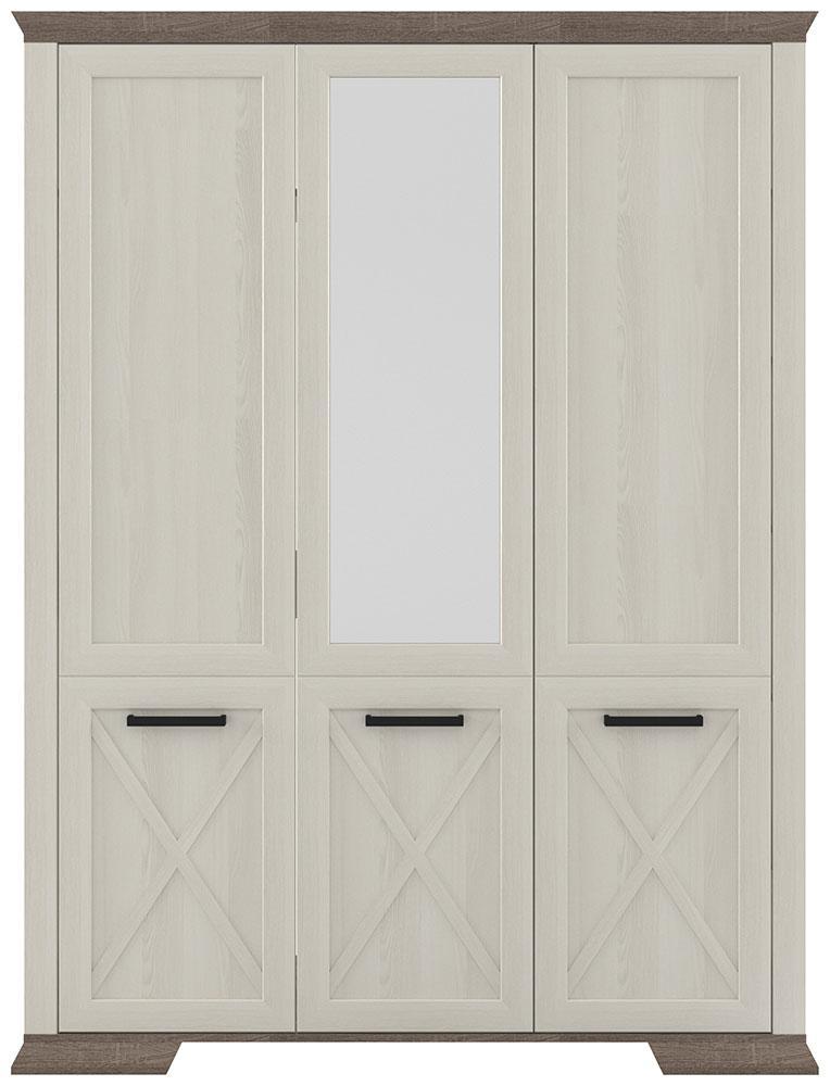Шкаф для вещей Марсель SZF_3D ясень снежный/дуб сонома трюфель