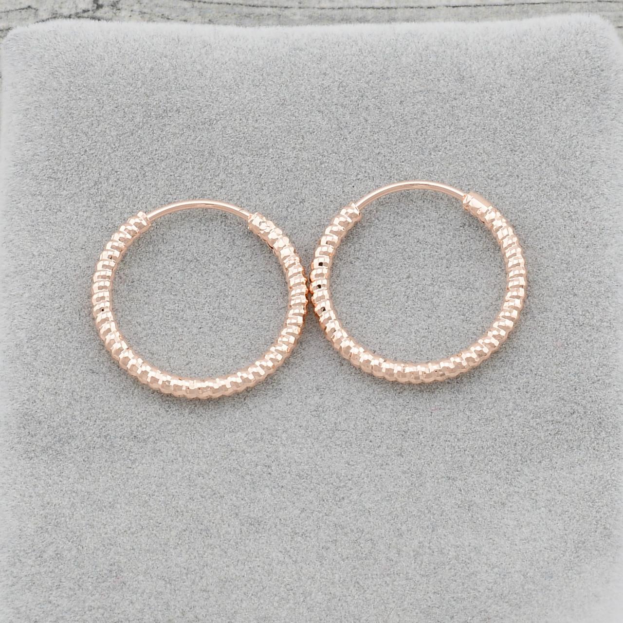 Серьги-кольца маленькие позолота