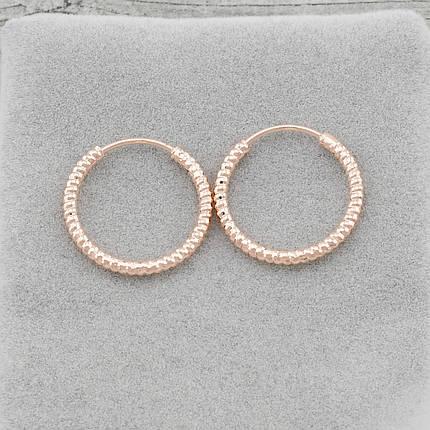 Серьги-кольца маленькие позолота, фото 2