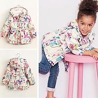 Демисезонная куртка для девочки на меху 90-130 см