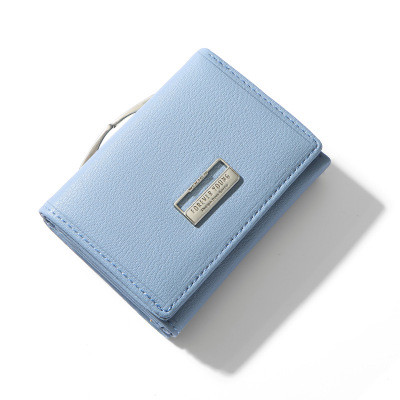 Женский Кошелек Бумажник Маленький на Кнопке для Карточек Weichen (B7561-31) Голубой