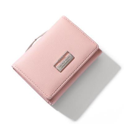 Женский Кошелек Бумажник Маленький на Кнопке для Карточек Weichen (B7561-31) Розовый
