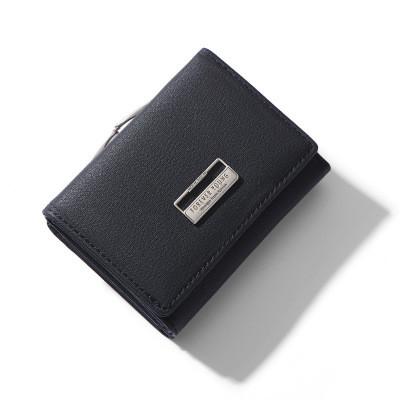 Женский Кошелек Бумажник Маленький на Кнопке для Карточек Weichen (B7561-31) Черный