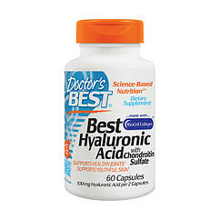 Хондропротектор Doctor's BEST Hyaluronic Acid + Chondroitin Sulfate with Collagen (60 капс) доктогр бест