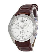 Наручные часы Tissot T-Classic Couturier Chronograph Brown-Silver-White, элитные часы Тисот, реплика ААА