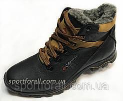 Ботинки зимние подростковые  Columbia  М-1 (черные,коричневые)