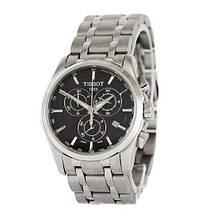 Наручные часы Tissot T-Classic Couturier Chronograph Steel Alt Silver-Black, элитные часы Тисот, реплика ААА
