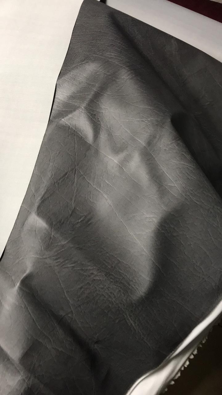 Винилискожа для обивки дверей и мебели гладкий 1,4м Серый