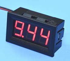 Вольтметр цифровой DC 4.5-30V  вольт с Led индикацией показателей. в корпусе