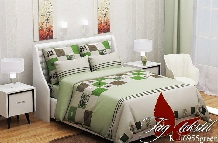 Комплект постельного белья R6955green, фото 2