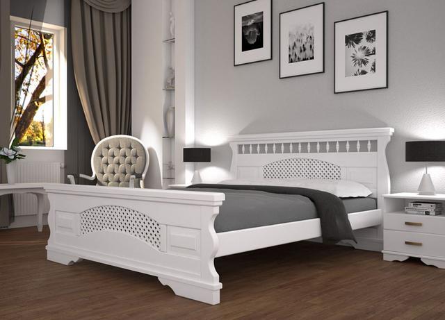 Кровать полуторная Атлант 23 белая